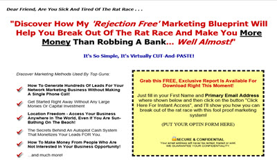 Mlm black book of secrets 101 ways to build your business network marketing lead capturing pages a value of 197 malvernweather Image collections